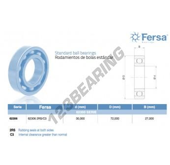 62306-2RS-C3-ASFERSA