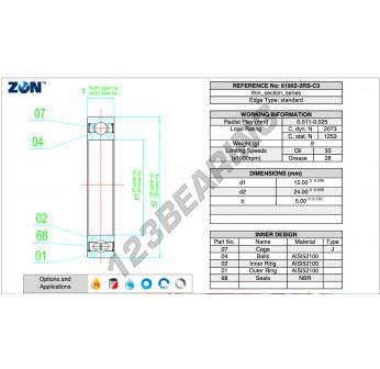 6802-2RS-C3-ZEN - 15x24x5 mm
