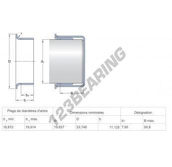 99080-SKF - 19.84x11.13 mm