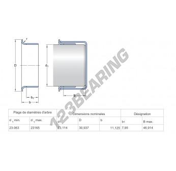 99091-SKF - 23.11x11.13 mm
