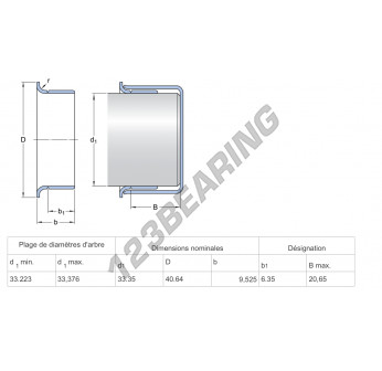99129-SKF - 33.35x9.53 mm