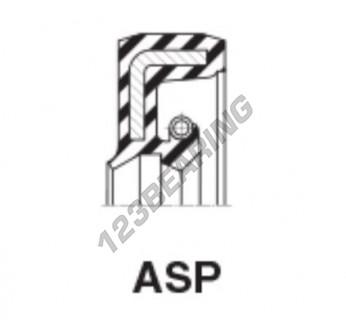 ASP-34.92X57.15X6.35-NBR - 34.92x57.15x6.35 mm