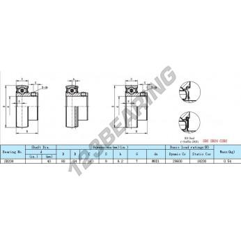 SB208-2RS - 40x80x34 mm
