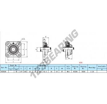 UCF209-INOX - 45 mm