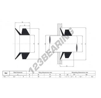 VS7-NBR - 7x5.2 mm